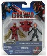 Marvel Guerre Civile Iron Man vs Black Widow Miniverse Jouet Figurine Ca... - $11.18