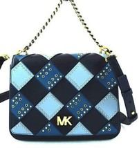 AUTHENTIC NEW NWT MICHAEL KORS $378 MOTT BLUE CHAIN SWAG SHOULDER CROSSB... - $158.00