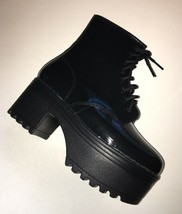 Jeffrey Campbell Women's Size 6 Lace Up Ankle Boot Size 6 Black - $116.88