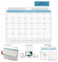 2020 Monthly Wall Calendar with Wire Bound Hanger Desktop Office Calenda... - $11.71