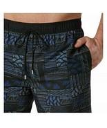 Kirkland Signature Men's Swim Short - Navy Blue Patchwork Swimwear M Medium - $9.64