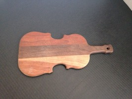 HARDWOOD VIOLIN SHAPED CUTTING BOARD - $9.50