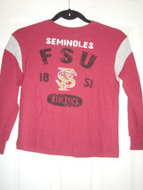Ncaa Florida State Seminoles Ncaa Boy's GARNET/GRAY L/S Thermal Shirt New - $11.75