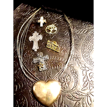 Beautiful~Religious Cross and Heart LOT - $20.79