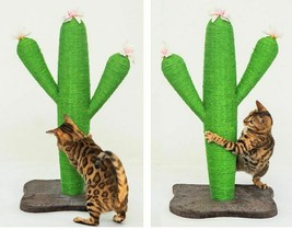 Cactus Climbing Cat Tree Sisal Scratch Plate Grinder Large Tower Scratch... - £117.00 GBP+