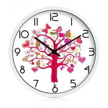(Love Tree) 10-inch Silent fashion Art Pastoral Round Wall Clock,WHITE (... - $45.19