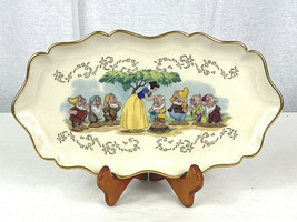 Lenox Disney's Snow White Candy Dish Fine Ivory China 1997 with DISPLAY STAND !! - $29.69