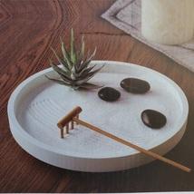 Room2Room Desktop Circular Desktop Tabletop Sand Zen Garden with Rake