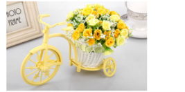 Garden Decor Nostalgic Bicycle Artificial Flower Decor Plant Stand - $21.90