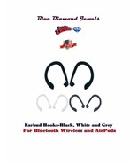 Ear Hooks for for AirPod & Wireless Bluetooth-Black-White-Pink Grey USA ... - $6.95+