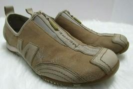 Merrell Barrado Sport Canvas Leather Low Profile Zip Run Walking Shoes W... - $36.40