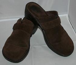 Born Zoccoli Pantofole da Infilare Taglie 9 40.5 Donna pelle Marrone - $34.10