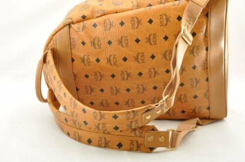Details about MCM PVC Leather Backpack Brown Auth 9005