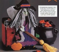 Bewitching Tissue Box Cover Halloween Plastic Canvas PATTERN/INSTRUCTION... - $1.32