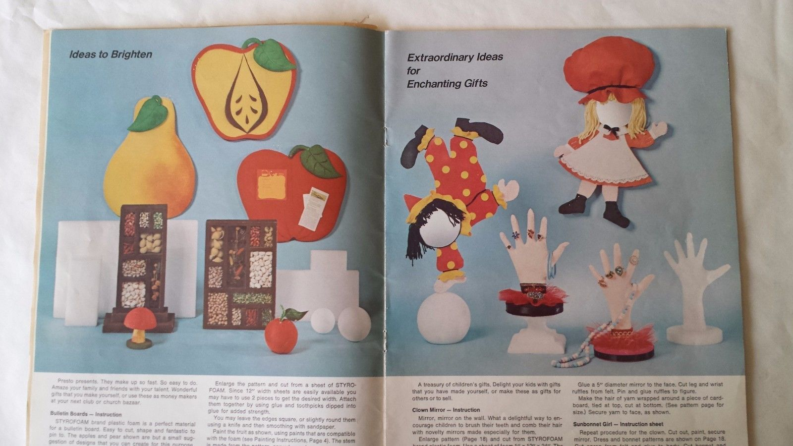 A World of Designs with Styrofoam 1973  Patterns and Instructions 35 Pages