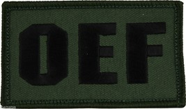 OEF OPERATION IRAQI FREEDOM OD GREEN 2 X 3  EMBROIDERED PATCH WITH HOOK ... - $15.33