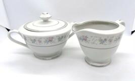 Rosemary Coffee Creamer & Sugar Dish Set China 5555 Made in Japan Vintag... - $29.69