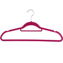 100 X Non Slip Flocked Coloured Velvet Space Saving Coat Hangers w/Tie Bar - $47.00+