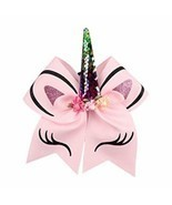 Unicorn Hair Bows Set for Girls Elastic Band Hair Clips Pack 4PCS Cute G... - $16.38