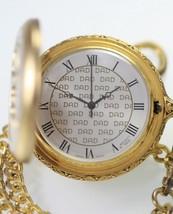 Majesti Number 1 Dad Gold Silver White Easy Read Fob Chain Quartz Pocket... - $18.10