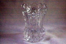 Clear Crystal With Vertical Cuts & Sawtooth Rim Toothpick Holder - $6.29