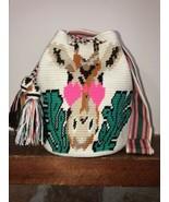 Authentic 100% Wayuu Mochila Colombian Bag Large Size special Boho Giraf... - £114.71 GBP