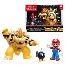 World of Nintendo New 2018 Mario Vs. Bowser Diorama Gift Set - 3 Figure ... - $28.71