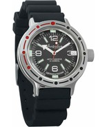 Vostok Amphibian 420640 /2416 Military Russian Diver Watch Black Rubber ... - $67.28