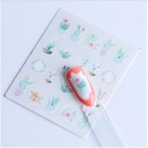 HS Store - 1 Sheets STZ-618 Colorful Purple Fantacy Flowers Nail Stickers - $1.34