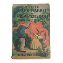 Vintage Little Jack Rabbit And The Wicked Wolf Children's Book David Cor... - $23.33