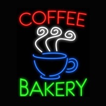 "New Coffee Bakery Open Bread Bar Light Lamp Neon Sign 24""x20"" - $182.33"