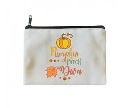 Pumpkin Patch Diva Make-up Bag, Cosmetic Bag - $13.85