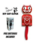 """SCARLET RED LADY KIT CAT CLOCK 15.5"""" Free Battery MADE IN USA New Kit-Ca... - £48.86 GBP"""