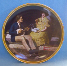 KNOWLES COLLECTORS PLATE NORMAN ROCKWELL PONDERING ON THE PORCH - $10.84