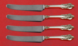 """Grande Baroque by Wallace Sterling Silver Fruit Knife Set 4pc Custom 7"""" HH WS - $279.00"""