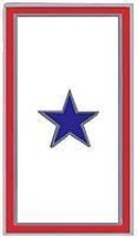 ONE BLUE STAR LOVED ONE PROUDLY SERVING MILITARY  PIN - $13.53