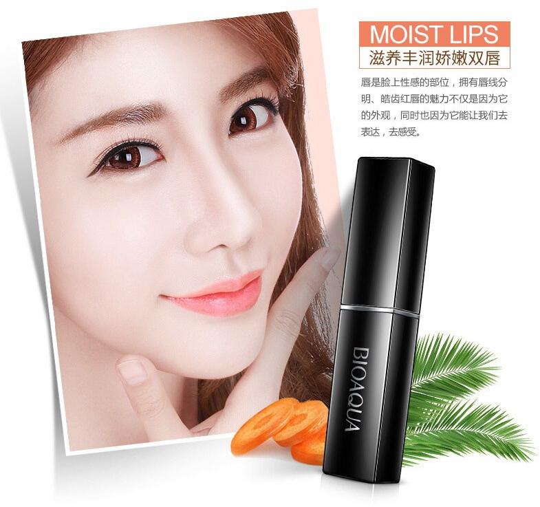 BIOAQUA Natural Carotene Moisturizing Lip Balm Hydrating Waterproof Long Lasting