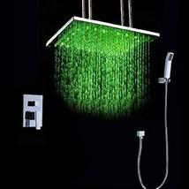 Cascada Luxury Bathroom Shower Set Rainfall LED Shower Head, Double-Func... - $841.45
