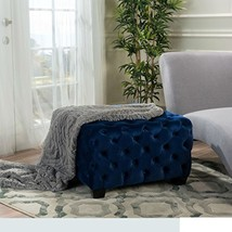 ModHaus Living Modern Contemporary Button Tufted Velvet Upholstery Foots... - $168.60