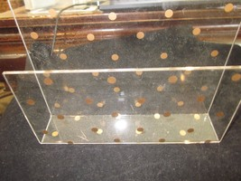 ACRYLIC CLEAR AND GOLD DOT ENVELOPE AND PAPER HOLDER USED - €17,43 EUR