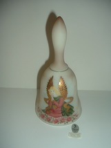 Fenton Glass Hand Painted Artist Signed Limited Ediiton Angel Bell - $29.99