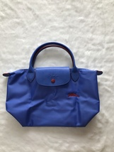 Longchamp Club Collection Horse Embroidery Short Handle Mini Handbag Cobalt - $95.00