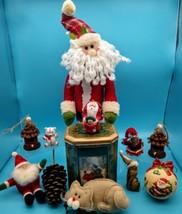 Vintage Christmas Decor Ornaments Santa Dept 56 - $44.55
