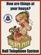 Bell Telephone How are Things at Your House Advertisement Little Girl Me... - $29.95