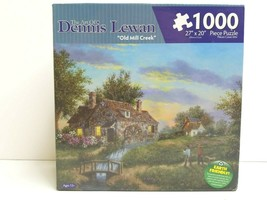 The Art Of Dennis Lewan Old Mill Creek 1000 Pc Landscape Puzzle Family G... - $26.72