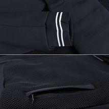 Men's Lightweight Multi Pocket Letterman Varsity Mesh Track Bomber Jacket image 9