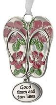 Life is a Breeze Inspirational Zinc Ornaments -Good Times and tan Lines - $7.43