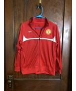 Manchester United Mens Nike Full Zip Track Jacket Medium M Red Sz Youth ... - $29.44