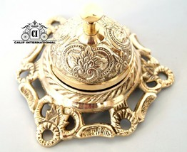 Beautiful Solid Brass Bell Office Hotel Bell Counter Service Call Tablet... - $39.59