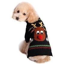 NACOCO Pet Holiday Festive Deer Reindeer Cat Sweater Dog Sweater Winter ... - $9.89